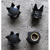 hotrodspirit–Tapón Válvula de rueda (x4) corona negro AUTO moto velo
