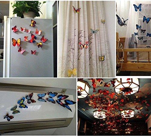 prezzo ElecMotive 24 Pezzi Farfalle 3d Farete Misura Grande Adesiv da Parete decorazioni a farfalla in plastica decorazione da parete (12 Viola + 12 Rosa)