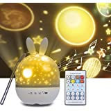 Veilleuse Enfant Projecteur, Tomshine Projecteur Étoiles Rotatif avec Musique 6 Films Minuteur 360°Rotation Galaxy Sky Lights