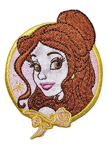 Preisvergleich Produktbild alles-meine.de GmbH Bügelbild - Belle / die Schöne und das Biest - 6 cm * 8 cm - Disney Prinzessin / Princess - Aufnäher Applikation - gestickter Flicken - Prinzessinnen Märchen