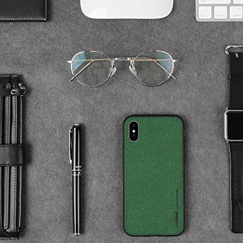 Cover iPhone X, Cover iPhone 10, MEMUMI Custodia iPhone X con protezione sottile e chiarezza Premium Anti Graffio Case Anti Impronte Protettiva e Leggera Cover per Apple iPhone X Vede militare