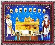 Koshtak All Ten Sikh/Das Gurus with Golden Temple Guru Nanak dev ji and Guru Gobind Singh ji Photo Frame for W