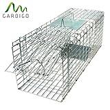Gardigo - Jaula & Trasportín plegable de metal para mascota | Trampa de captura de animales vivos,...