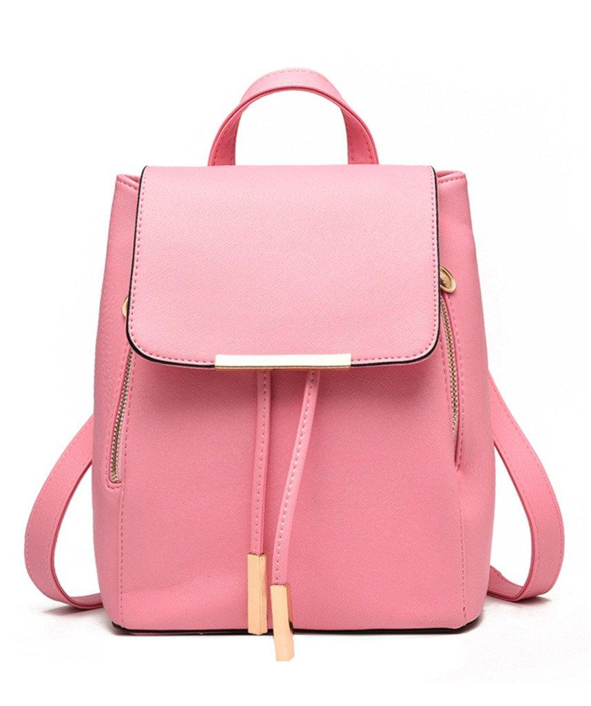 Girls School College Bag PU Leather Travel Outdoor Bag Women Black Backpack:  Amazon.co.uk: Luggage