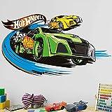 Bilderwelten Wandtattoo Hot Wheels Kopf an Kopf Rennen, Sticker Wandtattoo Wandsticker Wandbild, Größe: 30cm x 50cm