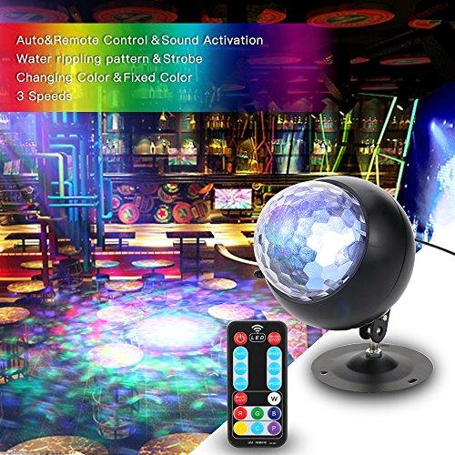 Discokugel, Tomshine Disco Lichteffekte Mini LED Discolicht DJ Projektor Fernbedienung und Musikgesteuert Partylicht