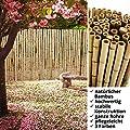 casa pura® Bambus Sichtschutz | Bambusmatte in Premiumqualität, massive Bambusrohre | naturbelassen | drei Größen von casa pura - Gartenmöbel von Du und Dein Garten