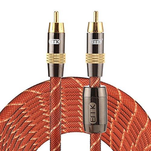 MEIHE-Cables/Adapters Kabel und Adapter TZ/A 8m OD8.0mm Gold überzogener Metallkopf RCA zu RCA Stecker Digital Koaxial Verbindungskabel Audio/Video RCA Kabel Digital Koaxial Rca