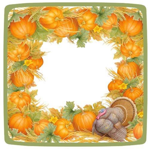Thanksgiving Servietten und Teller Türkei Tischdekorationen Decor Ideen Salad Plate Pack of 16 - Caspari Dinner Servietten