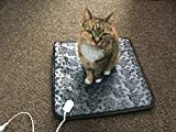 QITAO Electric Heated Bed Warming Pad Outdoor Pet Heating Bed Warmer For Dog House Heater Cat Puppy Animal Kitten Indoor Waterproof Adjustable Pet Mat, 45 * 45 CM