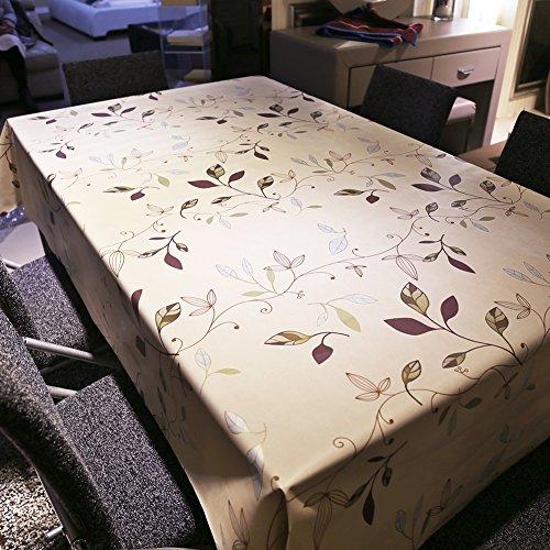 BLUELSS Koreanische Baumwolle ländlichen Spitze karierte Tischtuch Party Bankett im Freien Tischdecke Nappe Table Cover Overlay Rot Braun, 137 x 137 cm (Braun-overlay)