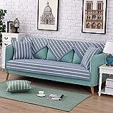 DULPLAY Baumwolle Couch-schutzhülle, Sofabezug Anti-Rutsch Protector für Hund Gesteppte Sofa möbel Sommer Sofa Werfen abdeckungen Separat erhältlich Universal Vier Jahreszeiten-B 110x240cm(43x94inch)