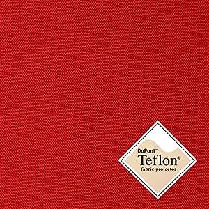 Breaker Teflon - Couleur: rouge - coupe-vent, hydrofuge, tissu enduit - Polyester - Canvas - Vendu au Mètre