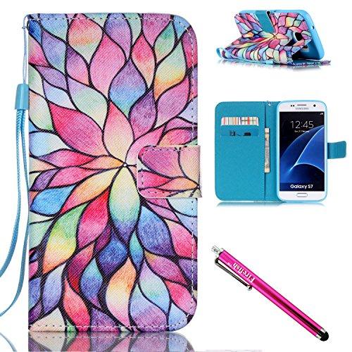 coque-galaxy-s7-firefish-kickstand-flip-folio-wallet-cover-resistance-aux-chocs-shell-de-protection-