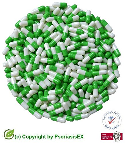 psoriasisex-1000-grun-weisse-leerkapseln-grosse-1-gelatine-leere-kapseln-green-white