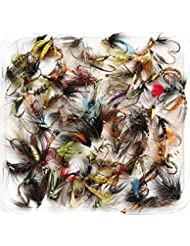 Mixed Assorted húmedo trucha pesca moscas – tamaño de 8, 10, 12, 14, 16 o 18, Qty del 10, 25, 50, 100, (10x Flies, Mixed Sizes 8-18)