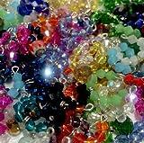 Accessories For Littlest Pet Shop Set #1: 3 Random Crystal Collar & 3 Bows.