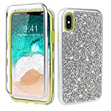 GOBY iPhone XS Max, Mince Étui en Silicone Souple Paillette Strass Brillante Bling...