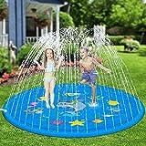 Nobuddy Juguete para Niños-Splash Pad, Piscina para Niños, Tapete de Juegos de Agua 170CM Almohadilla Aspersor de Juego Agua, Aire Libre Fiesta Playa Jardín