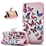 Coque iPhone 5C,Etui iPhone 5C,ikasus Motif Coloré Lettres Relief Housse en Cuir PU...