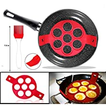Pancake Mould Ring - Fait les crêpes parfaites, les œufs, les pommes de terre rissolées, et les brownies dans l'outil de fabrication de silicone anti-adhésif. Ustensiles de cuisson de cuisine en silicone de haute qualité
