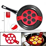 Pancake Stampi in Silicone,Antiaderente Uova Stampi Pancake,Mould Cake Maker Egg anello, Fantastic Fast & modo semplice perfetto Pancakes