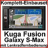 Komplett Set Ford Kuga Fusion Galaxy Pioneer AVIC-F980BT Navigation Bluetooth CD