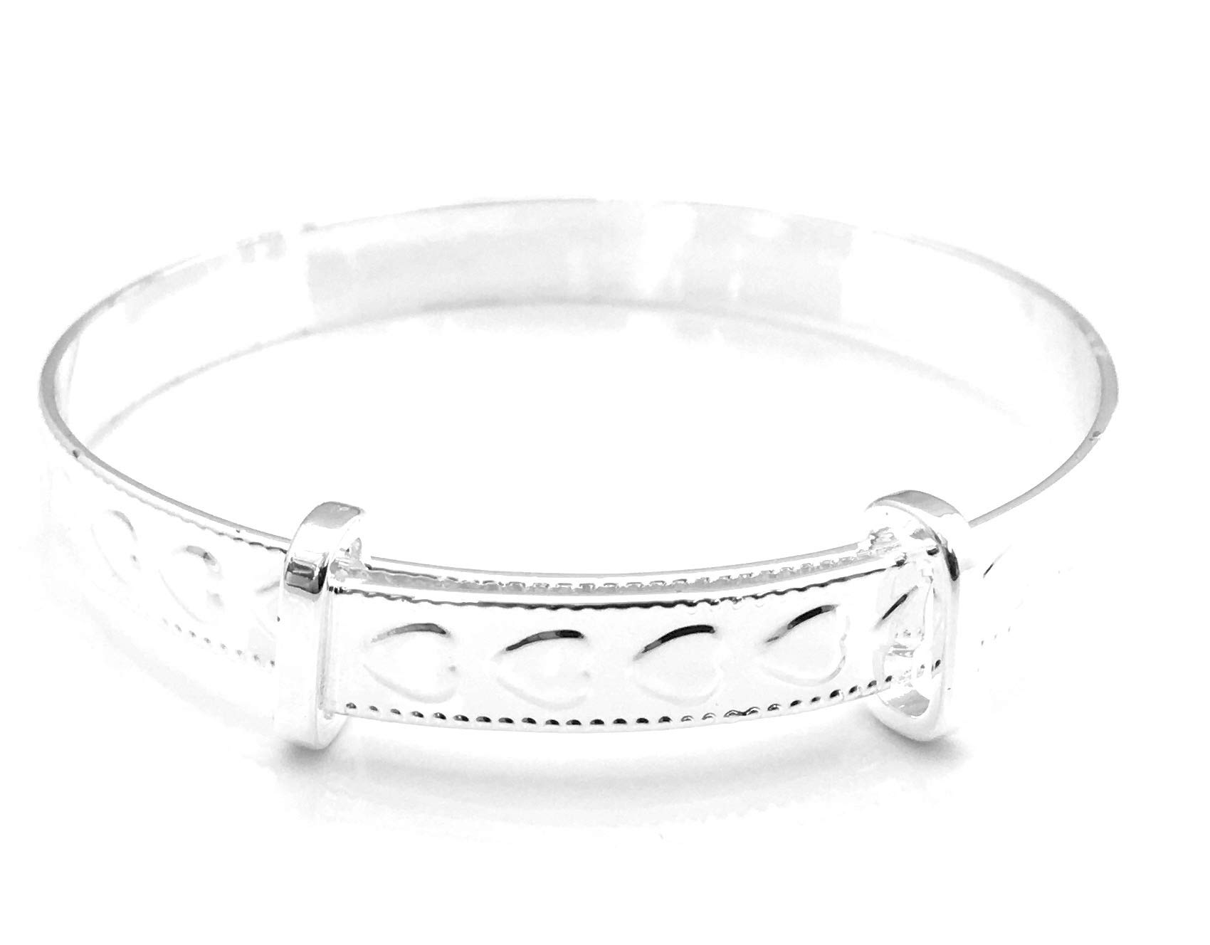 Equilibrium Silver Plated Christening Bangle
