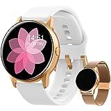 Smartwatch voor dames, fitnessarmband, horloge, gratis metalen band, sport, bluetooth, calorieënteller, hartslagmeter, stappe