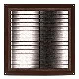 Lüftungsgitter - Abluftgitter Kunststoff mit Insektenschutz: 250 x 250 mm - braun , vr2525b