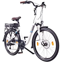 "NCM Munich 36V, 26"" / 28"" E-Bike City Rad, 250W, 36V 13Ah 468Wh weiß"