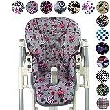 Housse de rechange de coussin de siège pour bébé Peg Perego Prima Pappa Diner-7motifs colorés de chouette-Neuf