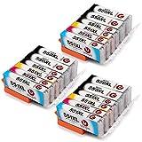 Uoopo Canon PGI-550XL CLI-551XL Kompatibel Druckerpatronen, Multipack Patrone Kompatibel mit Canon Pixma MX925 MX725 IP7250 IP7200 MG5650 MG5450 MG5550 MG6450 MG6650 MG5400 MG7500 IX6850 Drucker. 5 Farbe (6PGBK 3 Schwarz 3 Cyan 3 Magenta 3 Gelb)