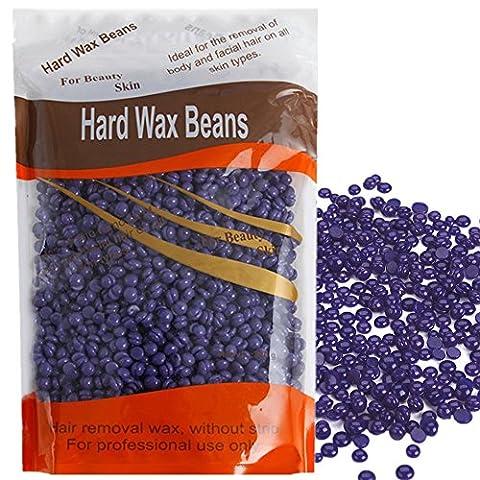 Youke Schwer Wachs Perlen Professionelle solide Depilatory Haarentferner Schwer Wachsbohnen 300g (Lavendel)