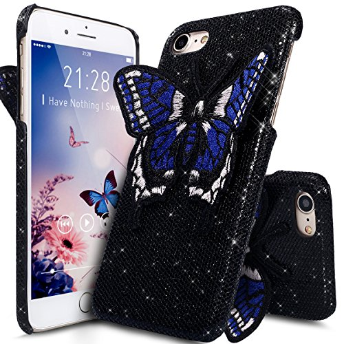 Coque iPhone 6S Plus,Étui iPhone 6S Plus,Coque iPhone 6 Plus,Étui iPhone 6 Plus,ikasus® Coque iPhone 6 Plus / 6S Plus Hard Étui Housse Téléphone Couverture Hard avec Modèle de diamant brillant Handcra Noir