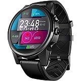 Bovake Smartwatch Damen Herren Zeblaze THOR4 Pro-Android-Viererkabelkern 1 GB + 16 GB BT-Kamera GPS 4G WiFi-Telefonuhr (Schwarz)