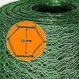 Grillage pour jardin casa pura® clôture vert | tailles au choix | diamètre de maille 13mm | résistant aux intempéries | bricolage, 50cmx10m