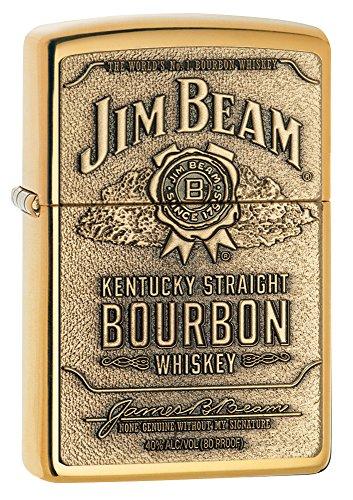 1x Zippo &reg Feuerzeug Jim Beam Brass Emblem Burbon