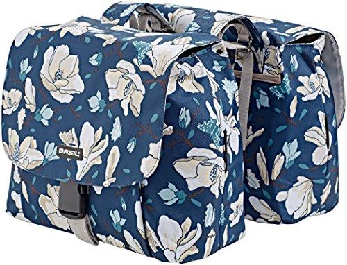 Basil Magnolia S Gepäckträger Doppel-Tasche 25l teal blue 2018 Fahrradtasche (Fahrrad-rad-tasche)