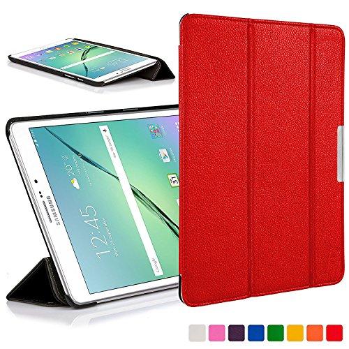 Forefront Cases Samsung Galaxy Tab S2 8.0 Funda Carcasa Stand Smart Case Cover – Ultra Delgado Ligera y Protección Completa del Dispositivo con Función Auto Sueño/Estela (Rojo)