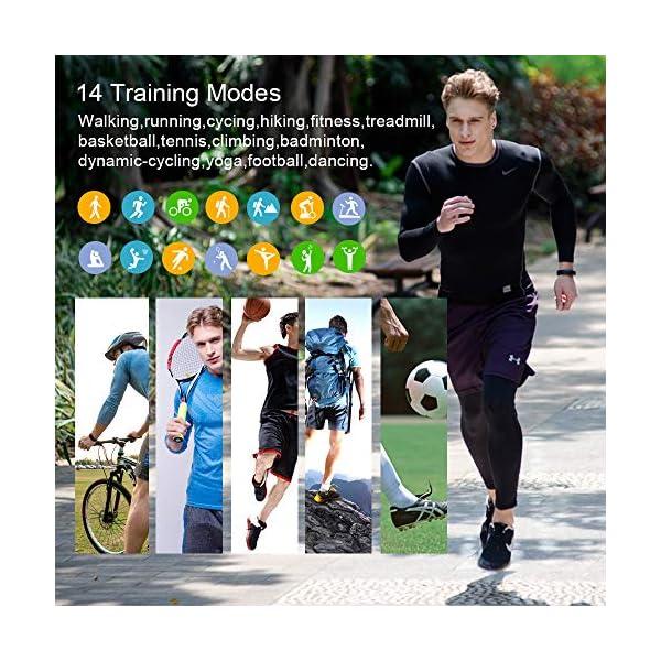Huyeta Pulsera Actividad Inteligente Fitness Tracker Podómetro Monitor de Sueño Contador de Calorías Pulsera Inteligente… 4