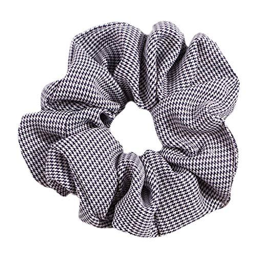 Senoow - elastico per coda di cavallo, in 24 colori freschi, stile country, a righe, motivo a pois, elastico e acciaio inossidabile, colore: trasparente, cod. szzxbgfhbfb5443