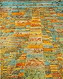 Kunstdruck auf Leinwand. Hauptweg und Nebenwege. Bild von Paul Klee