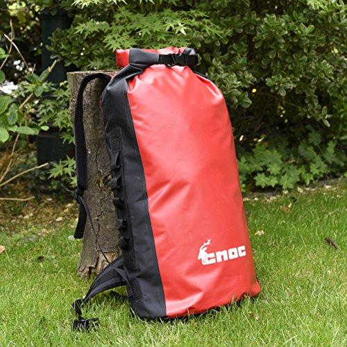 CNOC Wasserdichter Trekking-Rucksack 70 Liter I Packsack wasserdicht I Duffle Bag wasserdicht Seesack I Rucksack LKW Plane I Rack-Pack | Dr...