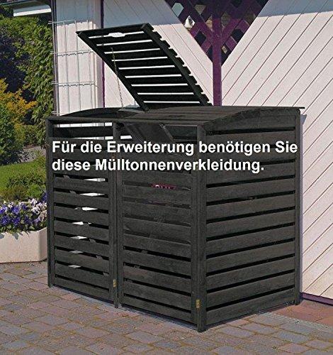 Erweiterung zu Mülltonnenbox Holz anthrazit Verkleidung Mülltonnenverkleidung - 2