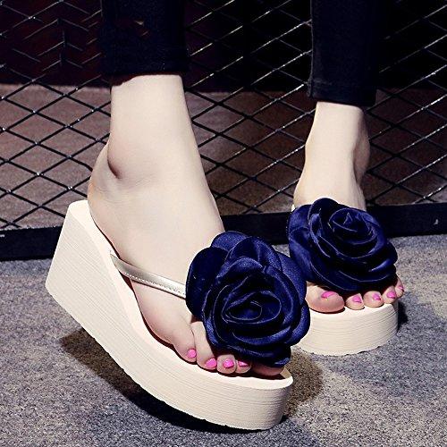 Estate Sandali Pattini antisdrucciolevoli delle scarpe da spiaggia delle pistole di modo di estate femminile Pattini di fiore handmade di modo per 18-40 anni Colore / formato facoltativo 1004