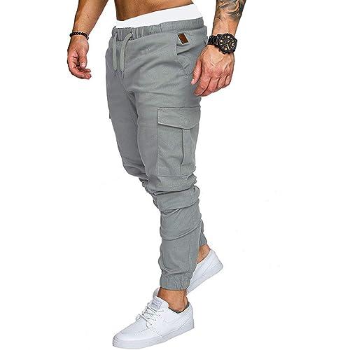 Pantaloni da Lavoro da Uomo di Moda Pantaloni da Jogging Pantaloni da Jogging Casual Pantaloni Cargo da Allenamento Pantaloni Sportivi da Atletica Multi Tasche