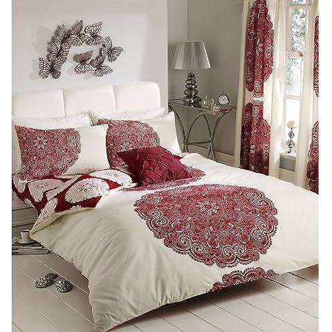 Manhatten - Juego de cama completo, color: rojo (11057055)