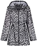 Raindrops by Finesse - Abrigo Impermeable - para Mujer Negro Estampado De Leopardo Medium