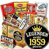 Legenden 1959 / Ostpaket mit Süßigkeiten / Jahrgang 1959 Geschenk